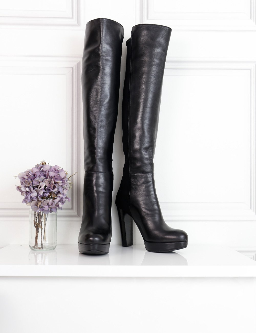 Stuart Weitzman black knee-high boots 4UK- My Wardrobe Mistakes
