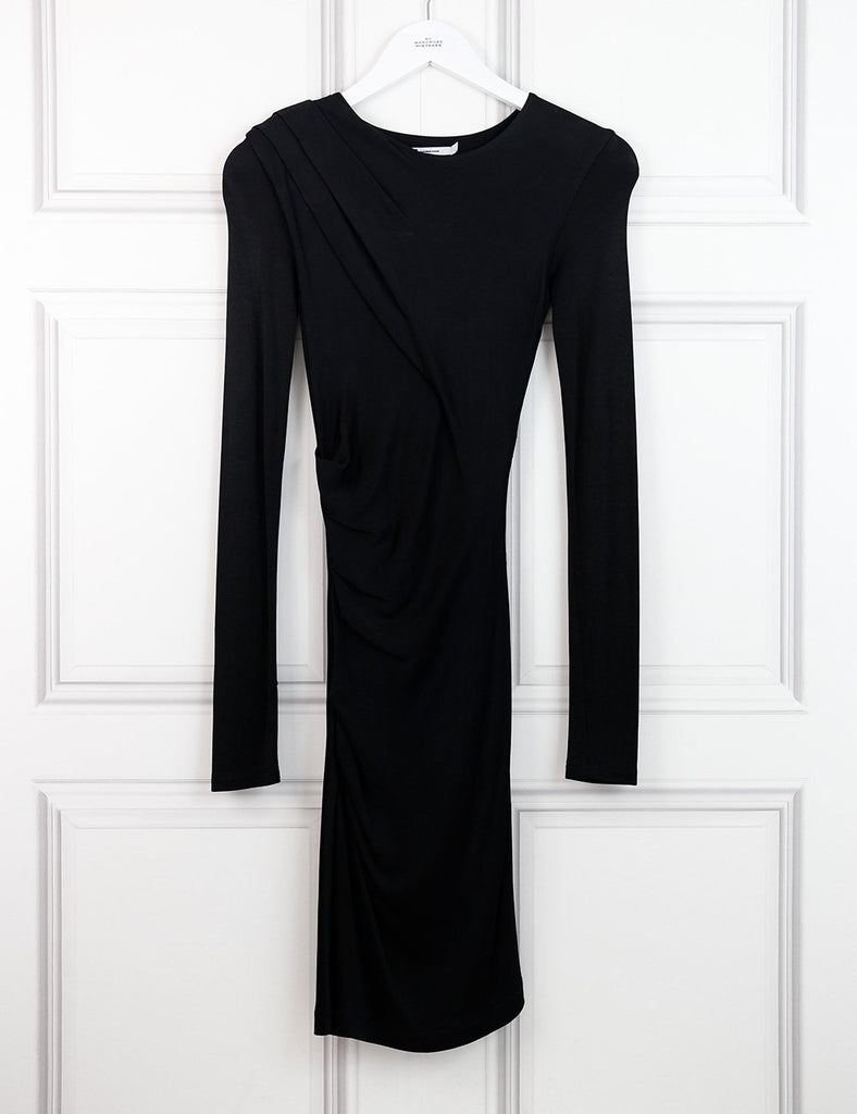 T Alexander Wang black long sleeves fitted dress 8UK- My Wardrobe Mistakes