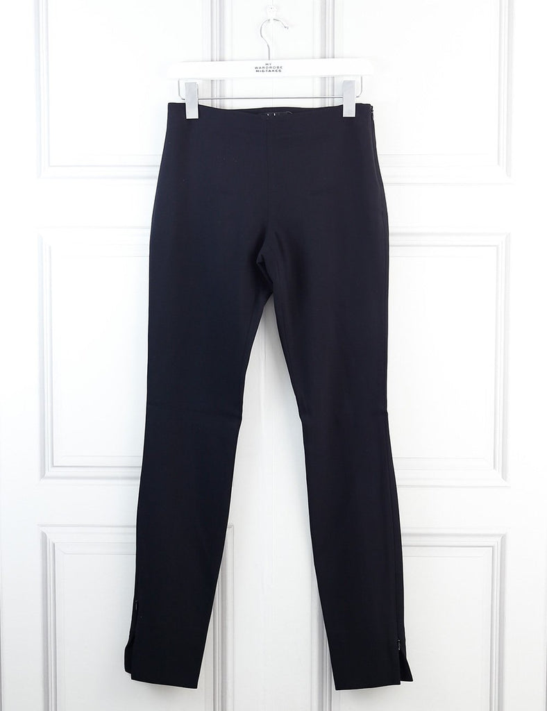 The Row black no pockets straight trousers with side ankle zips 6Uk- My Wardrobe Mistakes