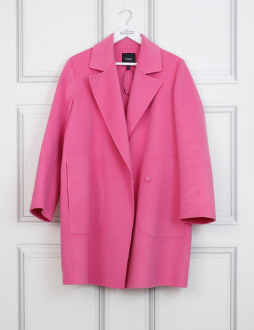 Theory pink Boy coat new divide 10Uk