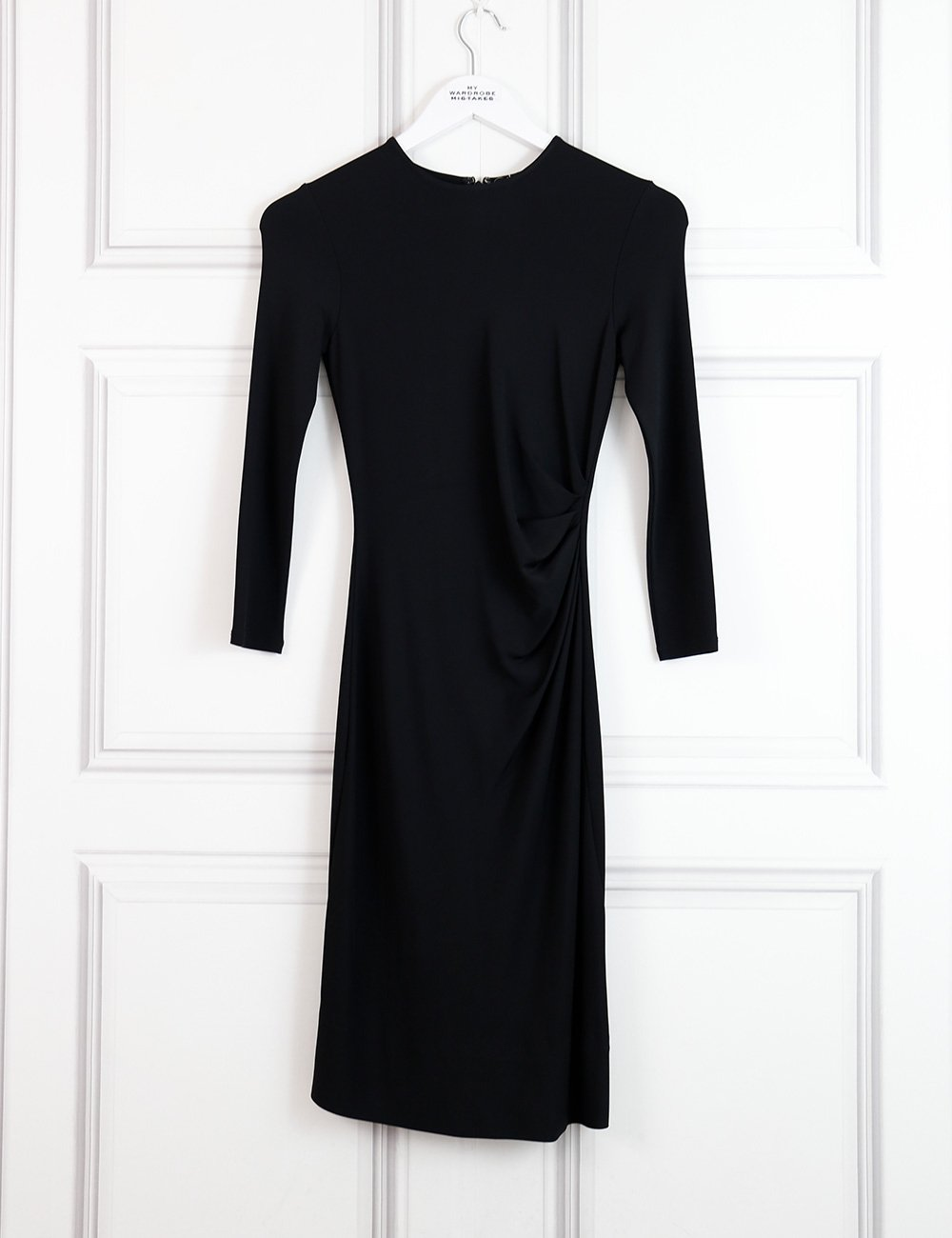 Theory black fitted dress with long sleeves 4UK- my Wardrobe Mistakes