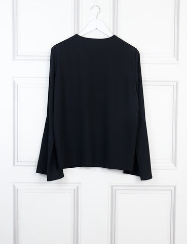 TIBI Long fluted sleeves blouse