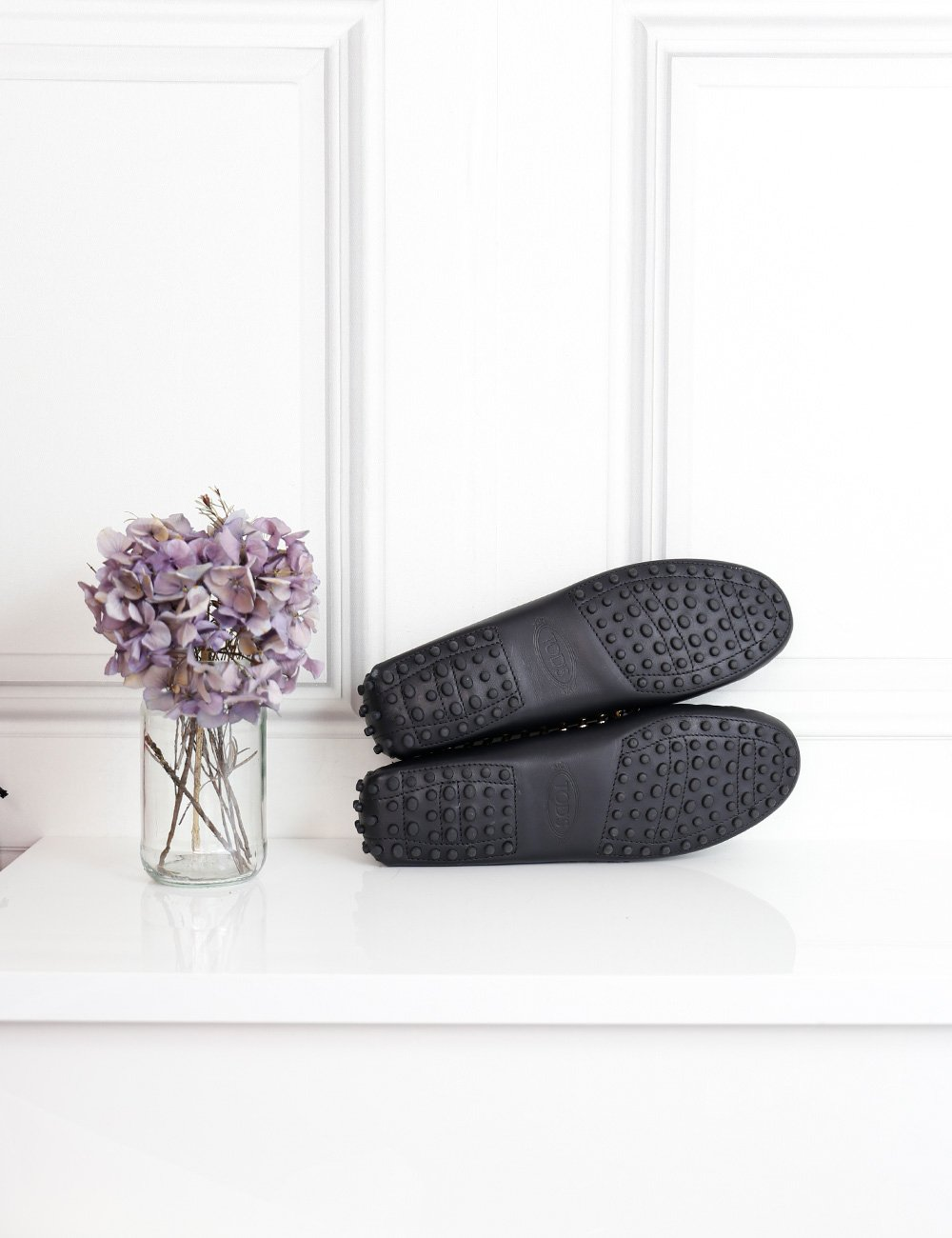 Tod's black gommino slippers with studs 6.5Uk- My Wardrobe Mistakes