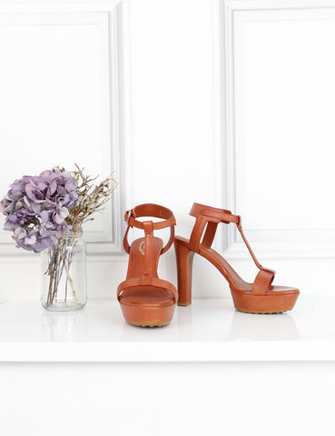 Tod's tan open-toe T-bar sandals with heel 1Uk- My Wardrobe Mistakes