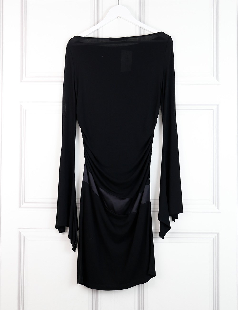 UNGARO black fitted dress with long sleeves 8UK- My Wardrobe Mistakes