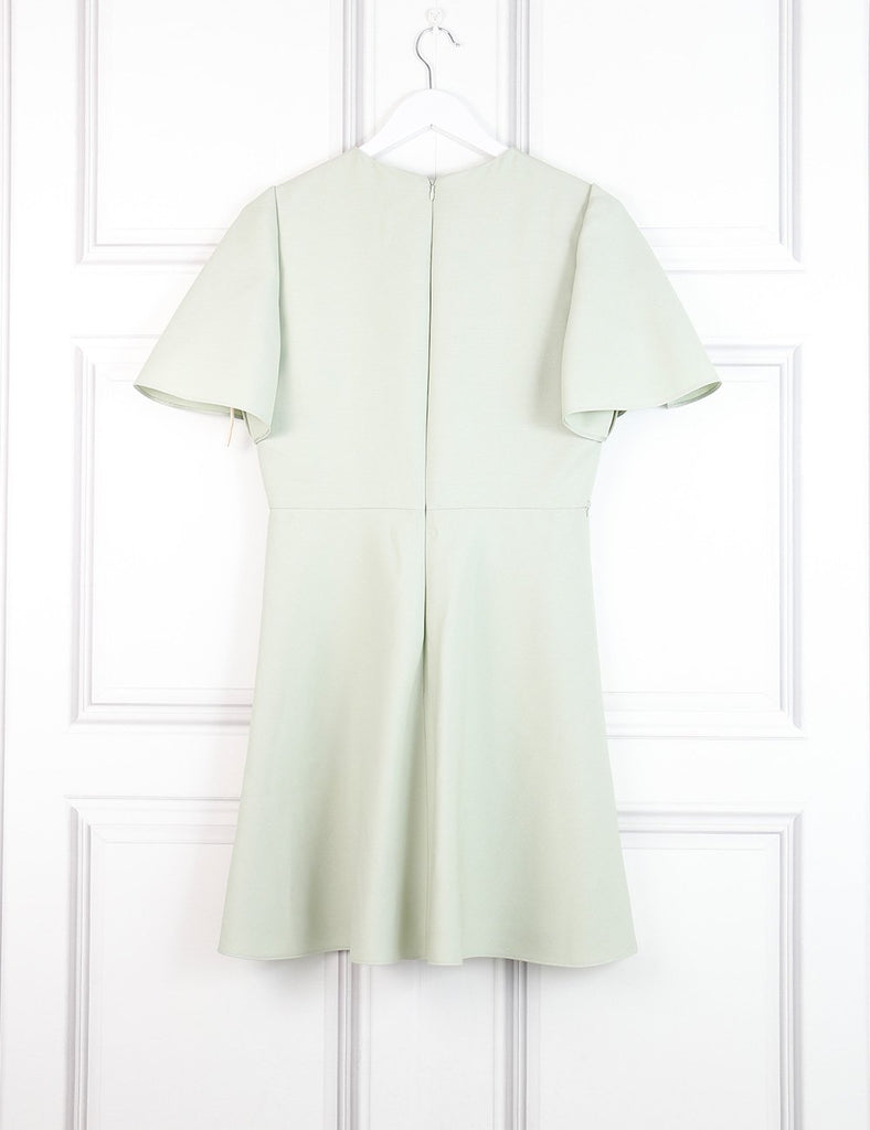 Valentino green short A-line dress 10UK- My Wardrobe Mistakes