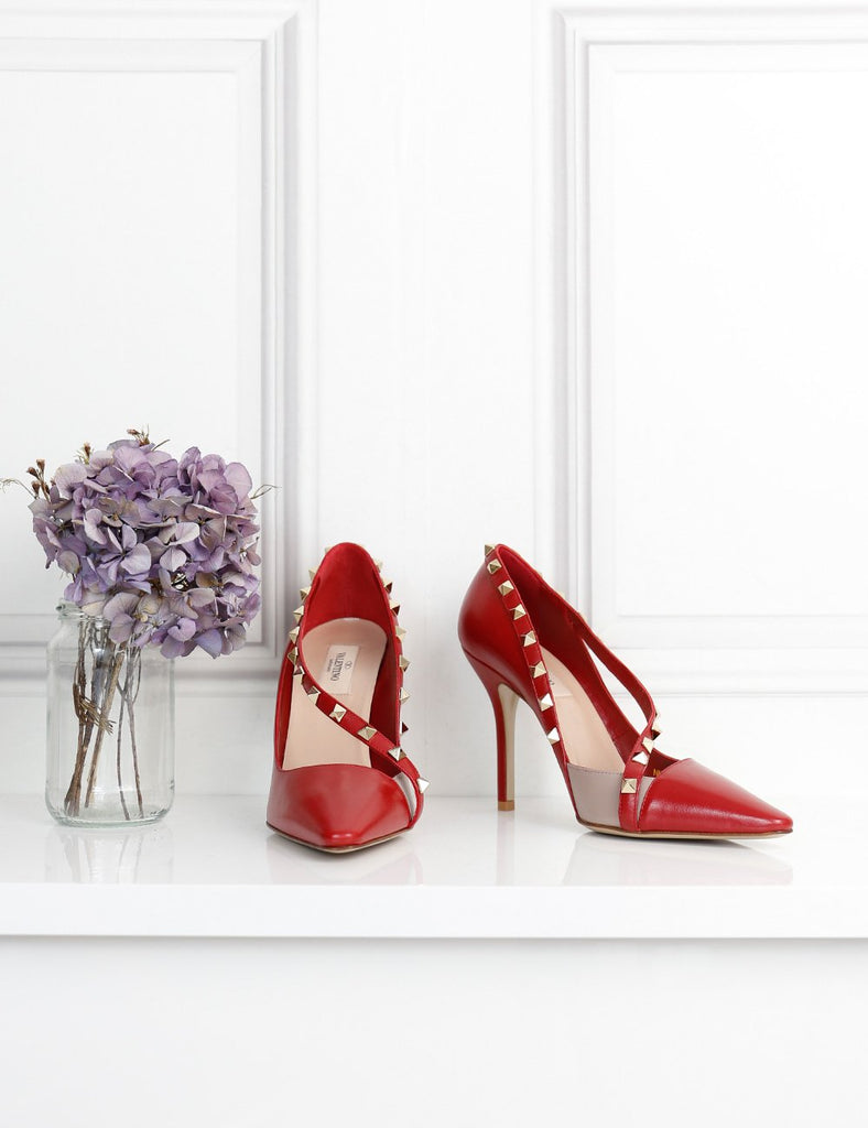 VALENTINO GARAVANI red rockstud pumps 5UK- My Wardrobe Mistakes