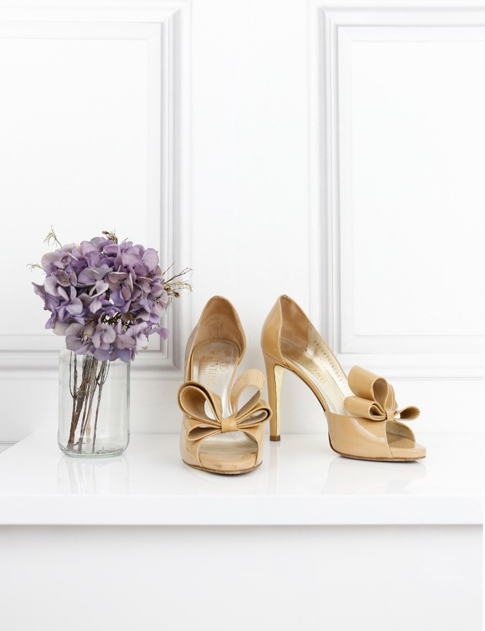 Valentino beige open toe pumps with bow 2.5UK- My Wardrobe Mistakes