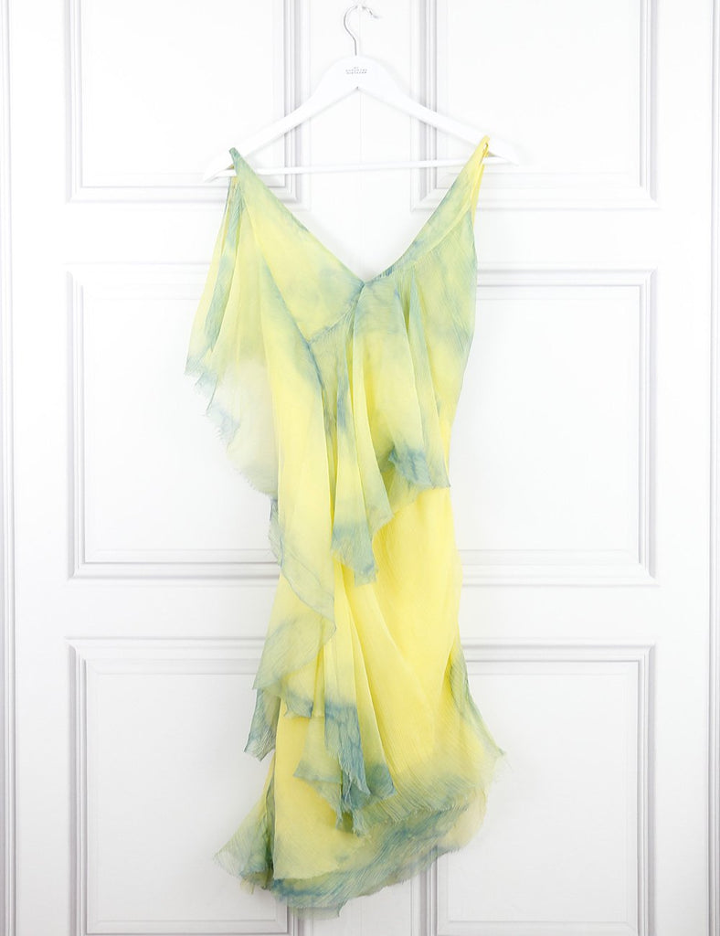 Vanessa Bruno silk dress with spaghetti straps 10UK yellow- My Wardrobe Mistakes