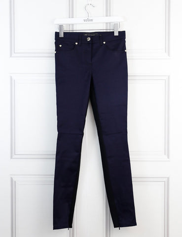 Versace bicolour jeans with ankle zips 8Uk