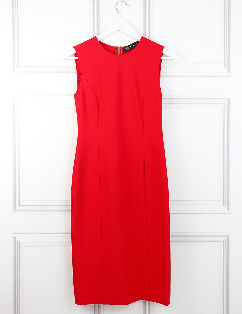 Versace Collection red mid-length dress with full back zip 8UK- My Wardrobe Mistakes