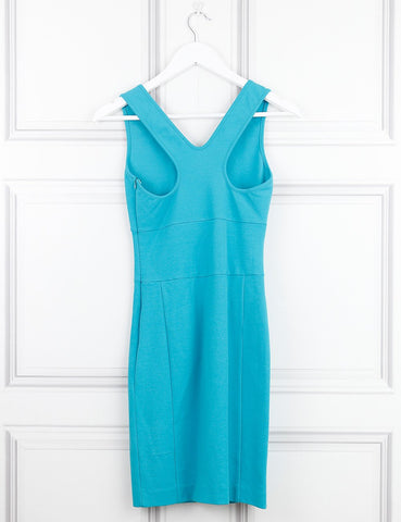 Versus turquoise sleeveless fitted dress 8UK- My Wardrobe Mistakes