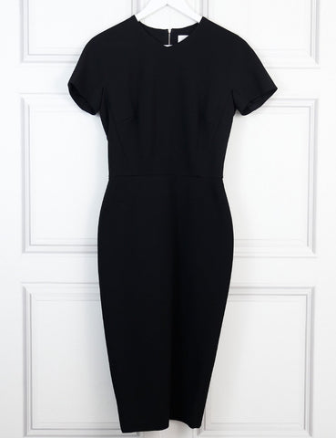 Victoria Beckham black fitted dress 12 Uk- My Wardrobe Mistakes
