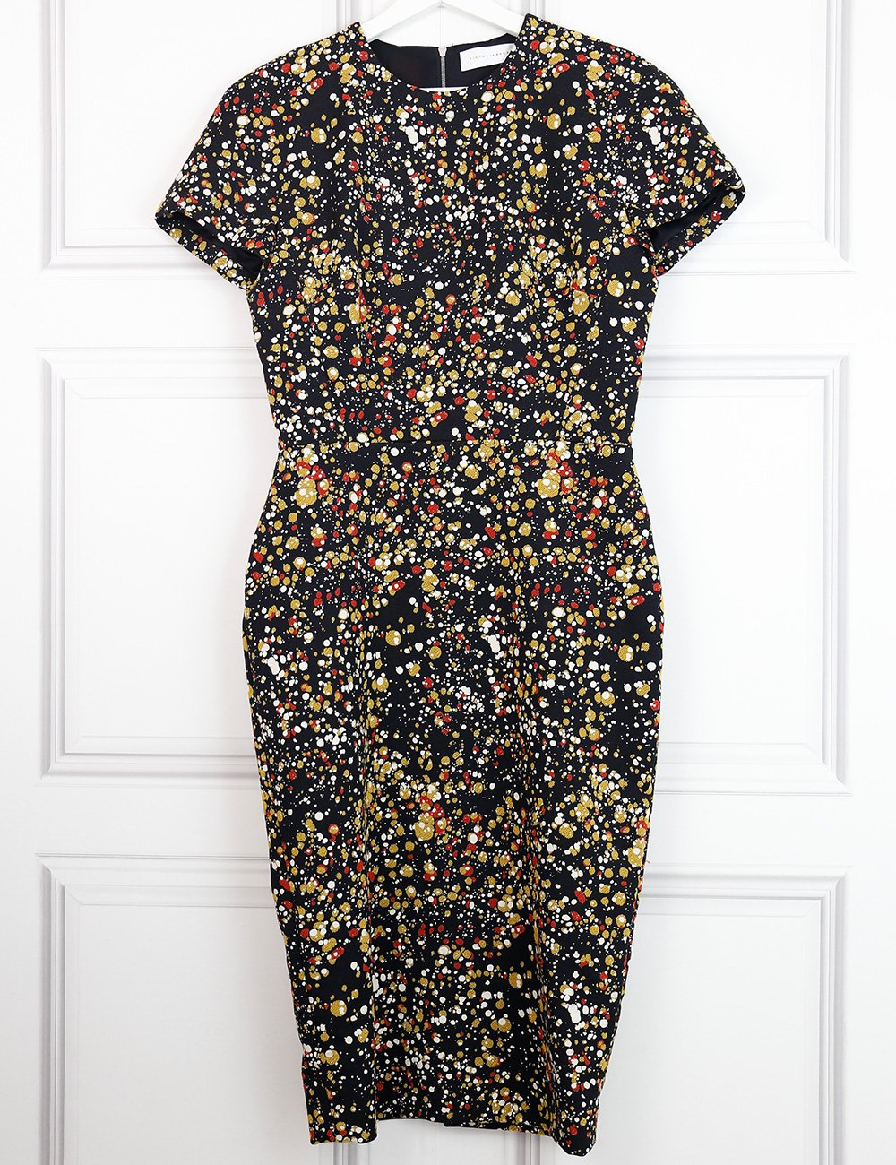 Victoria Beckham multicolour confetti print dress 14UK- My Wardrobe Mistakes