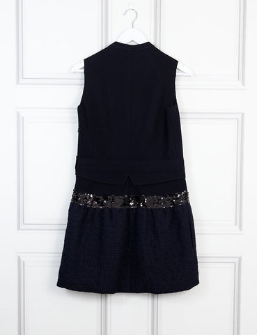 Victoria Victoria Beckham black sequinned wool dress 10 Uk- My Wardrobe Mistakes