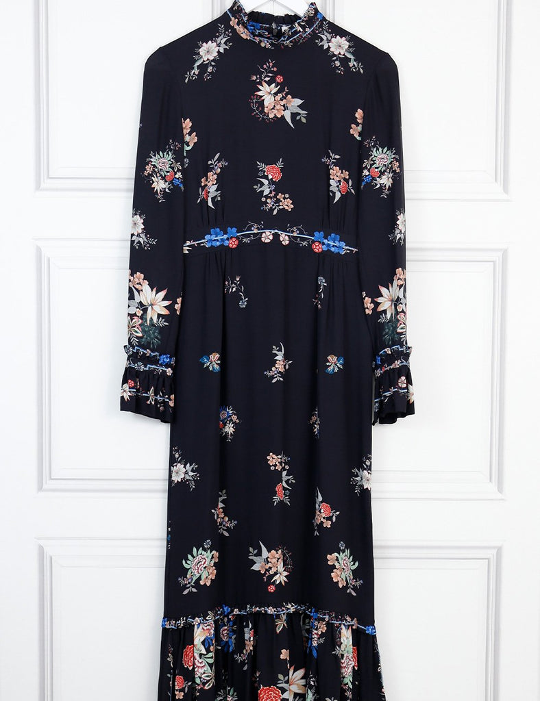 Vilshenko multicolour floral maxi dress 8Uk- My Wardrobe Mistakes