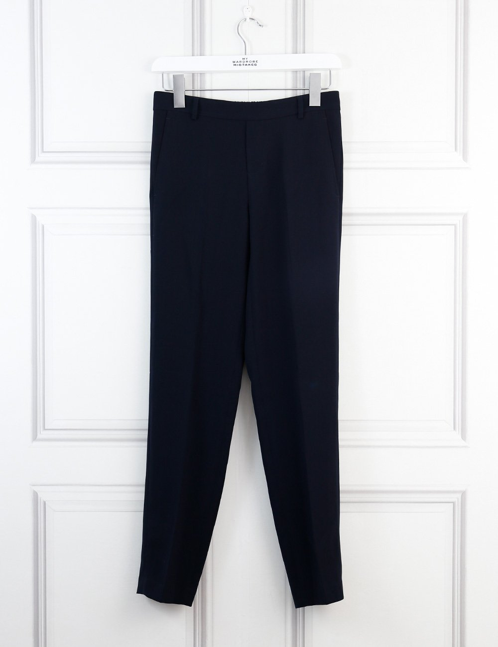 Vince blue elastic tailored trousers 6Uk