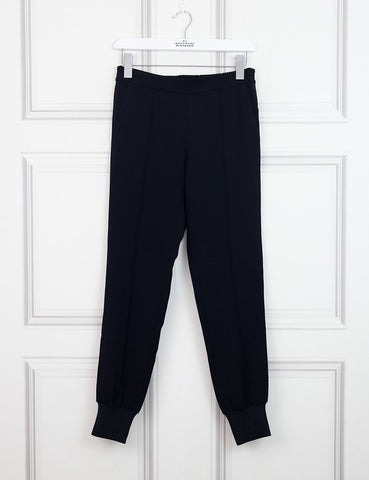 Vince blue elastic tapered trousers 6Uk
