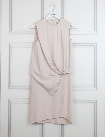 Vionnet nude sleeveless draped dress 6UK- My Wardrobe Mistakes
