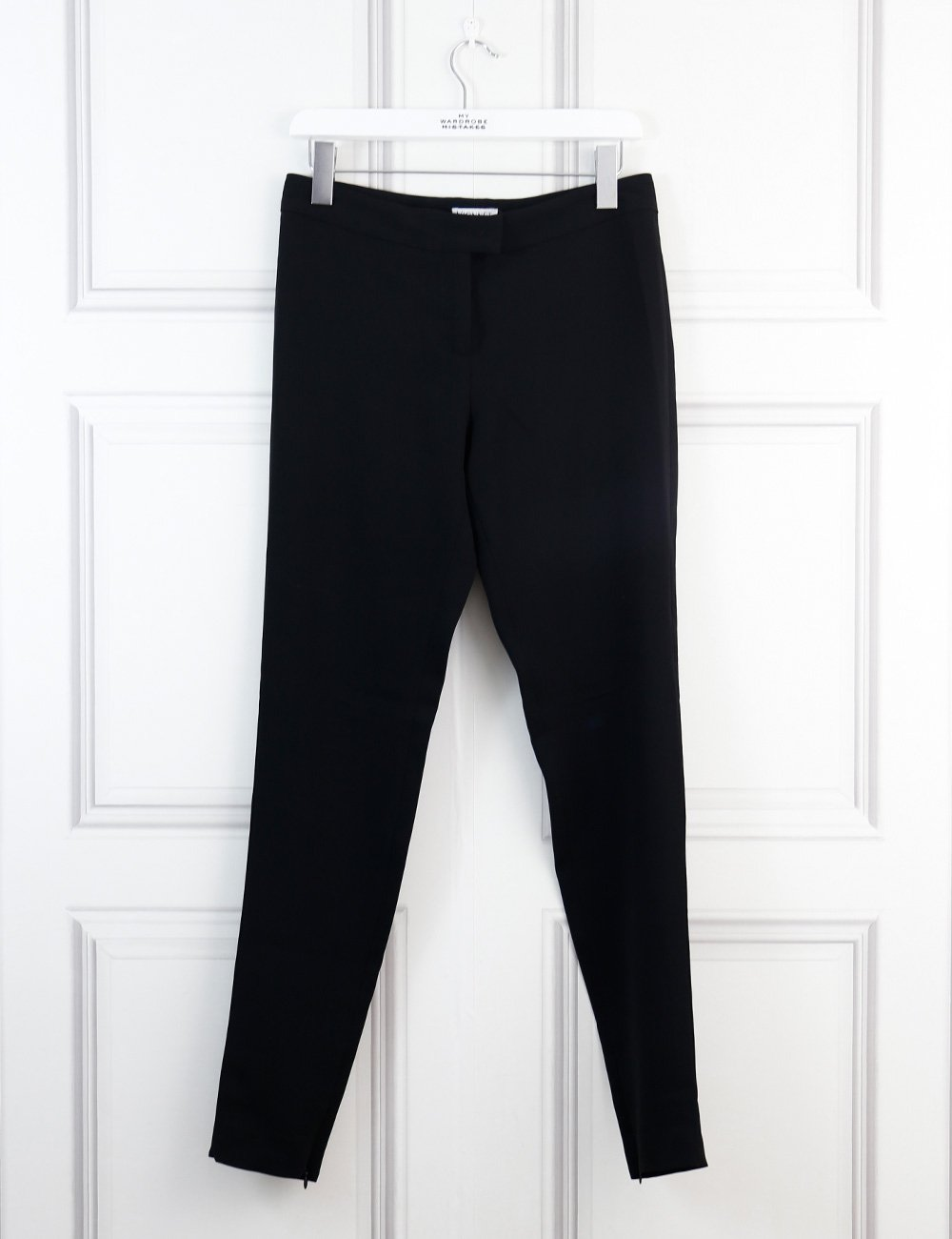 VIONNET CLOTHING 8UK-40IT-36FR / Black VIONNET Classic trousers with ankle zips