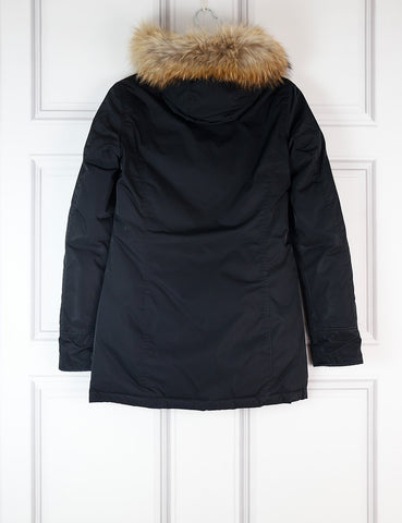 WOOLRICH CLOTHING 8UK-40IT-36FR / Black WOOLRICH Parka with removable fur trim