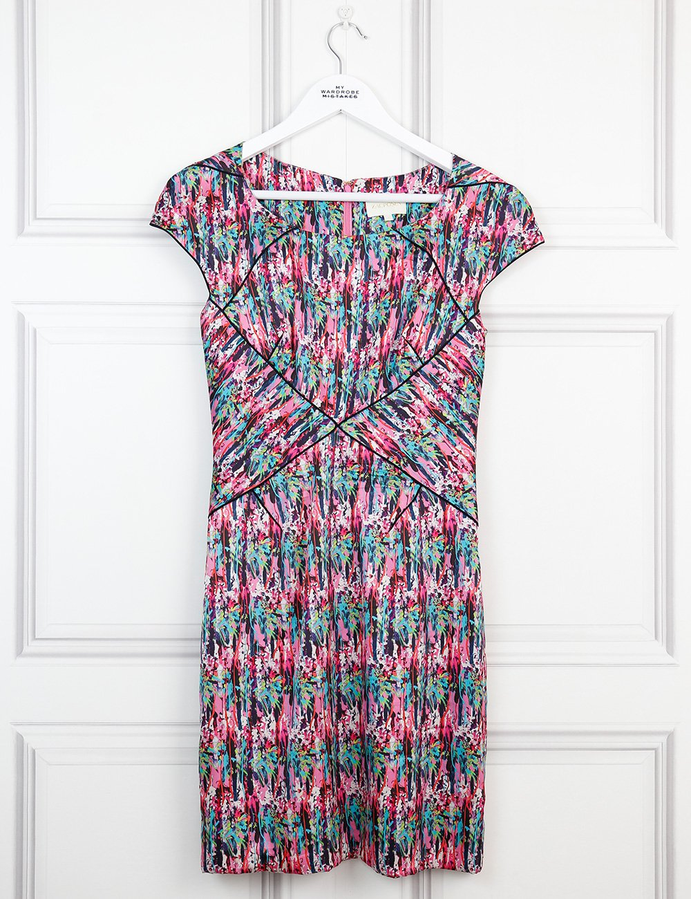 Zac Posen multicolour floral silk dress 8UK- My Wardrobe Mistakes