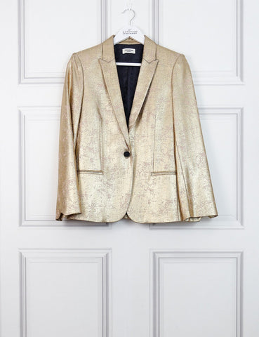 Zadig et Voltaire gold Vedy jacket 10 uk