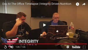 Office Time-lapse Integrity Driven Nutrition