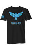 Image of T-SHIRT - DISTRESSED (Black/Blue)