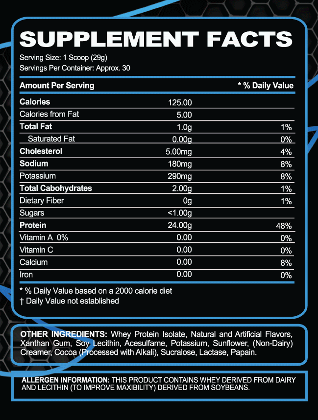 ISO DRIVEN WHEY ISOLATE PROTEIN