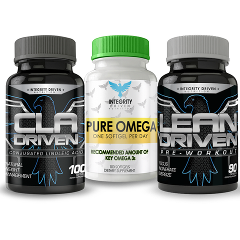 LEAN PERFORMANCE STACK (1 Lean-Driven-BLACK, 1 CLA-Driven, 1 Pure Omega)