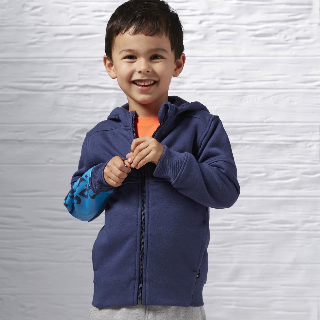 Boy's Essentials Fleece Full Zip Hoodie