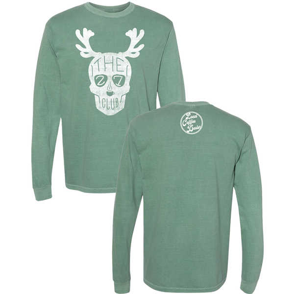 The 27 Club - Green Reindeer Long Sleeve