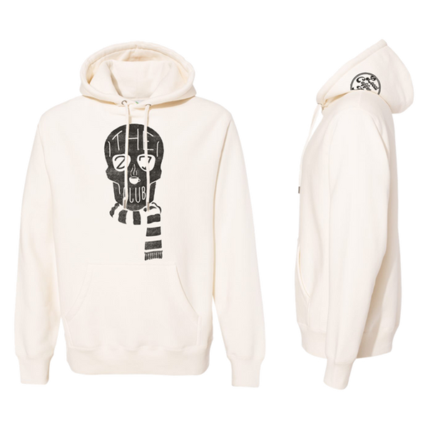 The 27 Club - Off White Skull Scarf Hoodie