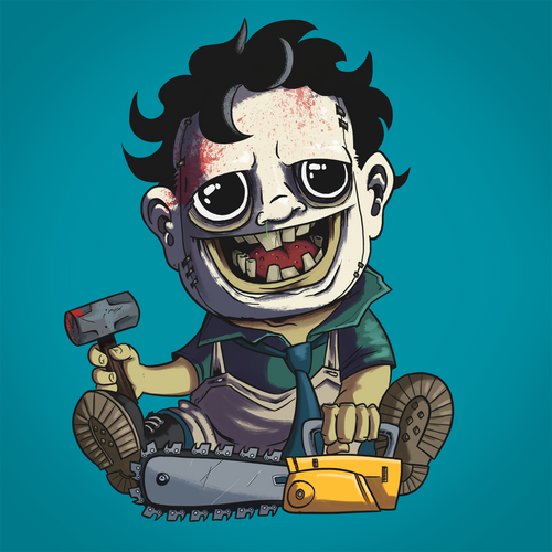 Leatherface - Terror Toddlers Series Art Print