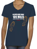 Cleveland Way 'Sore Feet' women's v-neck t-shirt