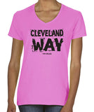 Cleveland Way women's v-neck t-shirt