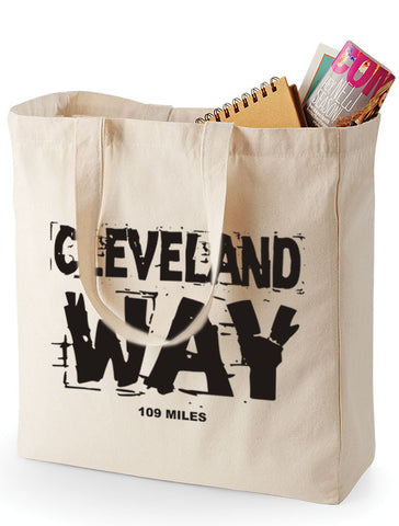 Cleveland Way canvas shopping bag
