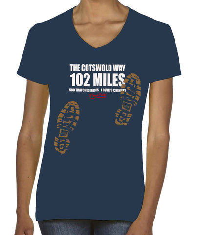 Cotswold Way 'Sore Feet' women's v-neck t-shirt