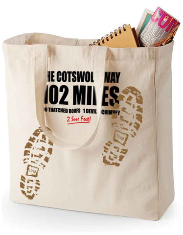 Cotswold Way 'Sore Feet' canvas shopping bag