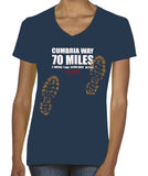 Cumbria Way 'Sore Feet' women's v-neck t-shirt