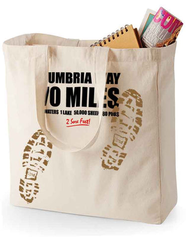 Cumbria Way 'Sore Feet' canvas shopping bag