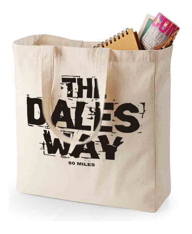 Dales Way canvas shopping bag