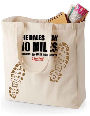 Dales Way 'Sore Feet' canvas shopping bag