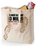 Great Glen Way 'Sore Feet' canvas shopping bag
