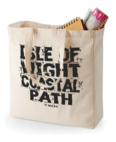 Isle of Wight Coast Path canvas shopping bag