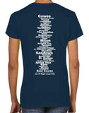 Isle of Wight Coast Path women's v-neck t-shirt