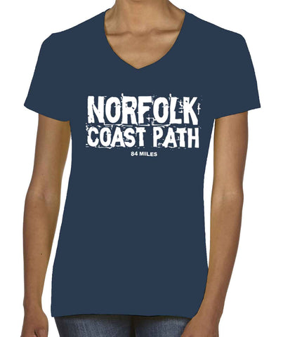 Norfolk Coast Path women's v-neck t-shirt