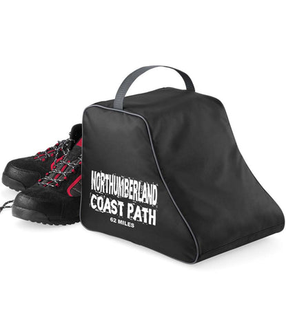 Northumberland Coast Path hiking boot bag