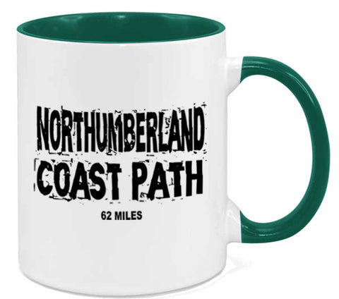 Northumberland Coast Path mug